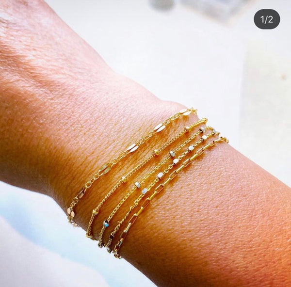 Ladder chain bracelet