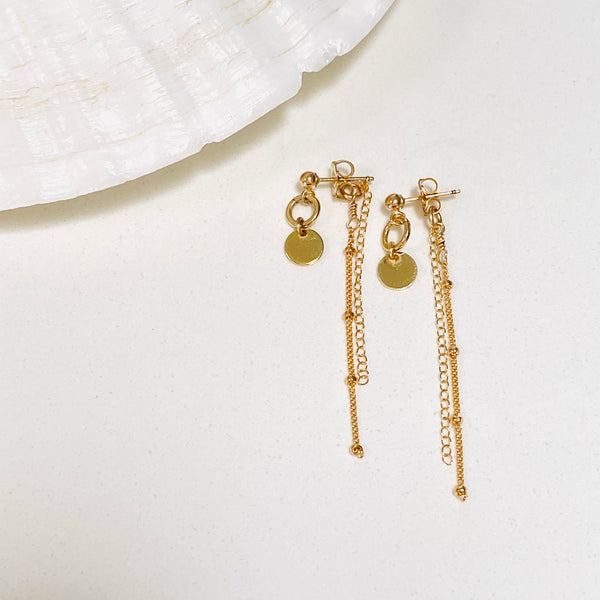 DISCO post threader earrings
