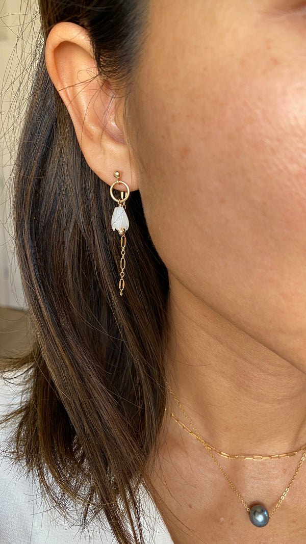 NEW PIKAKE post threader earrings