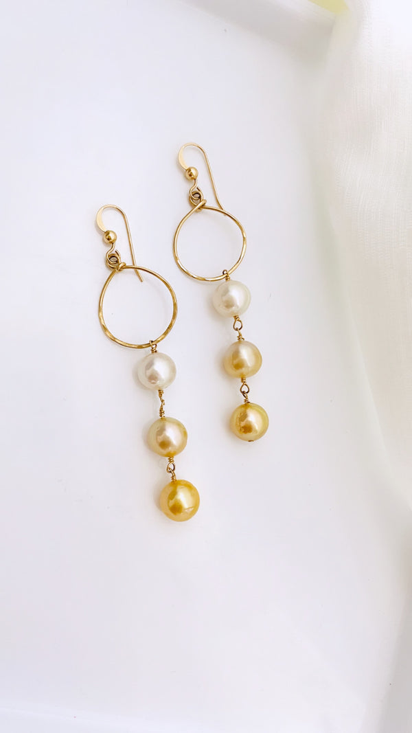 SOUTH SEA pearl ombré drop earrings