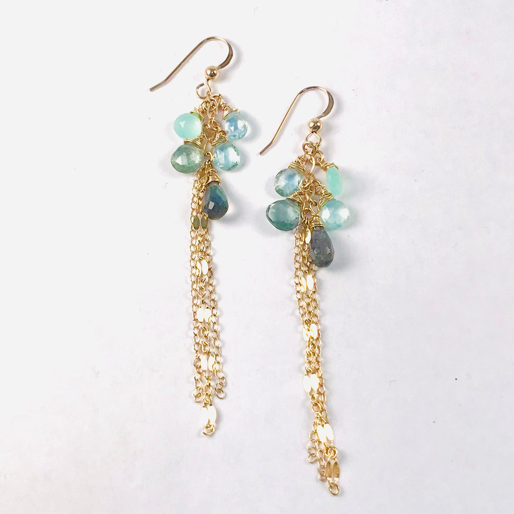 PETITE HONEYDROP aquamarine drop earrings