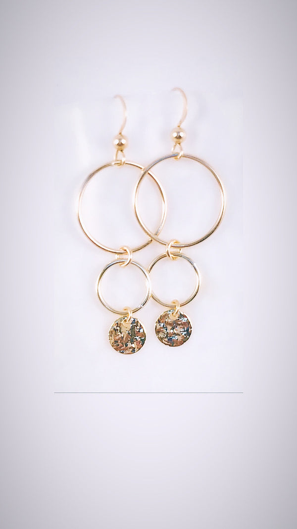 DISCO double link earrings