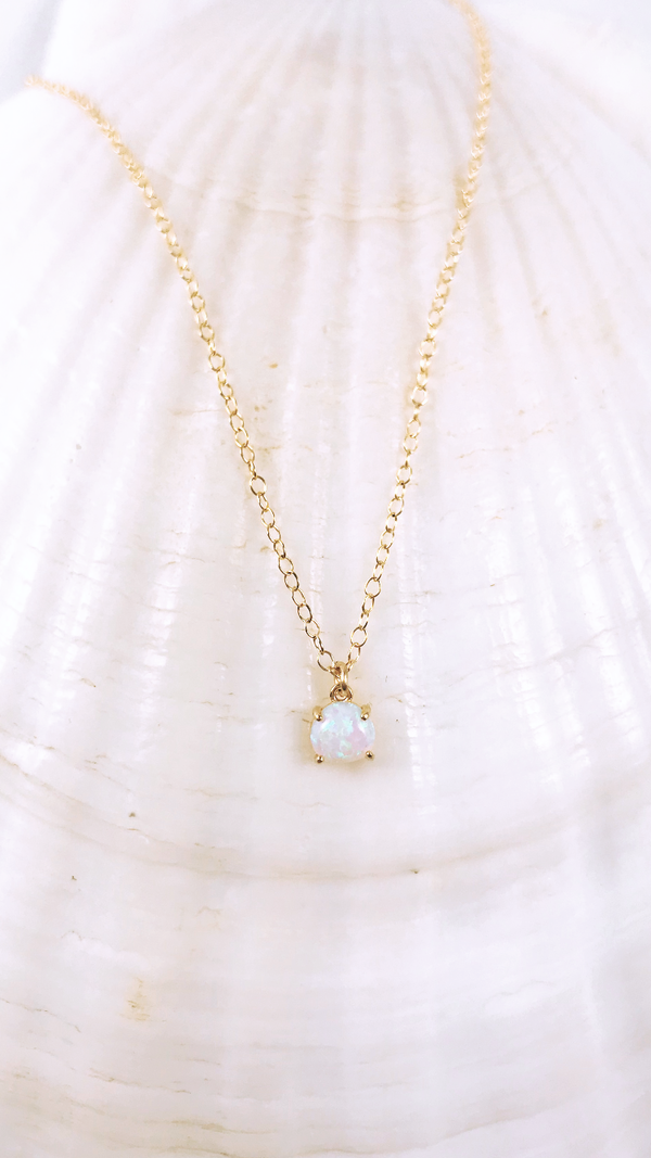 DOMINICA OPAL gold fill necklace