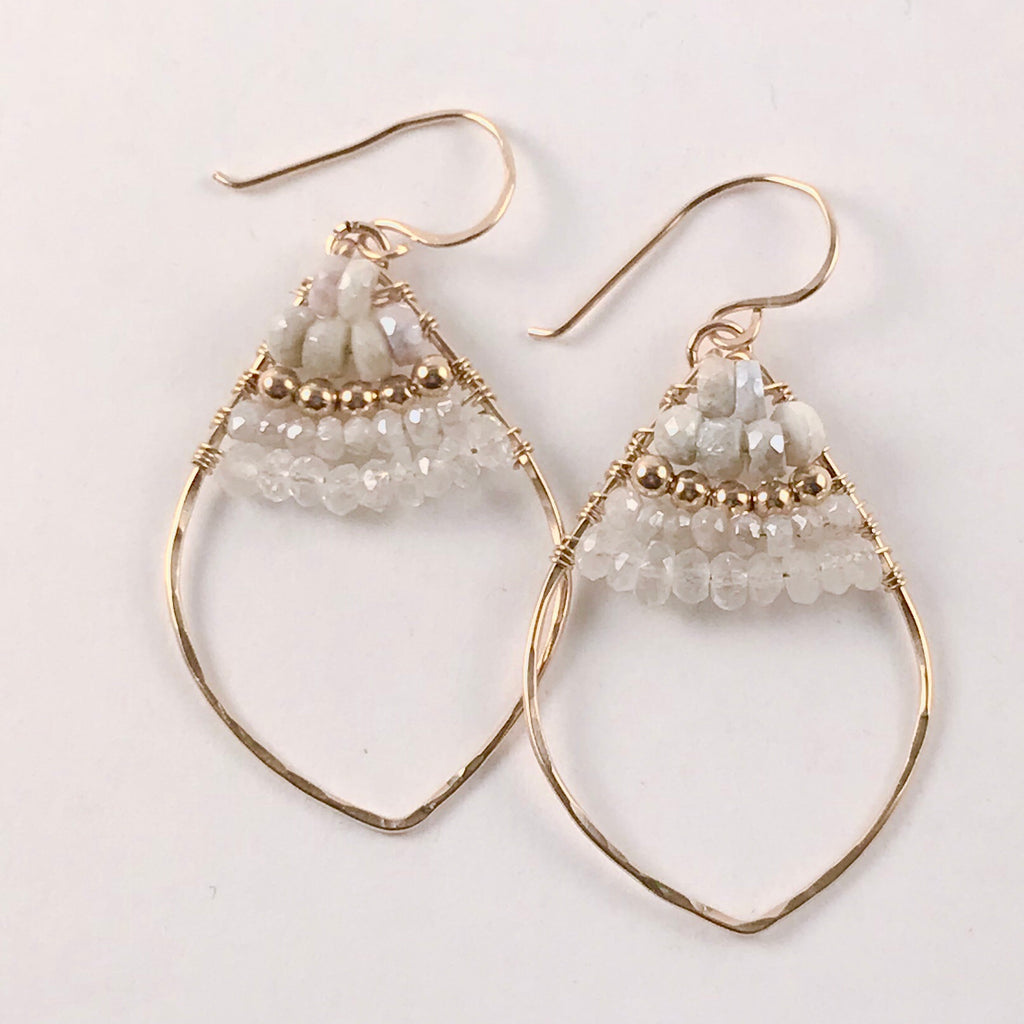 TUSCON beaded marquise earrings