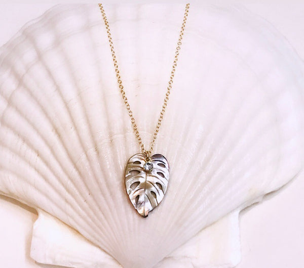KALO leaf necklace