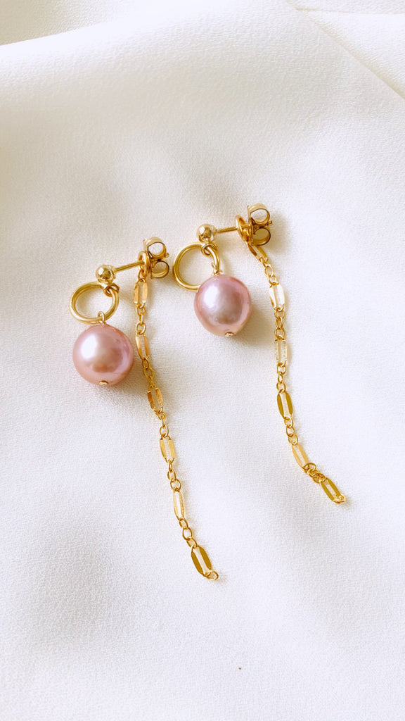 Edison Pearl Post Threader Earrings
