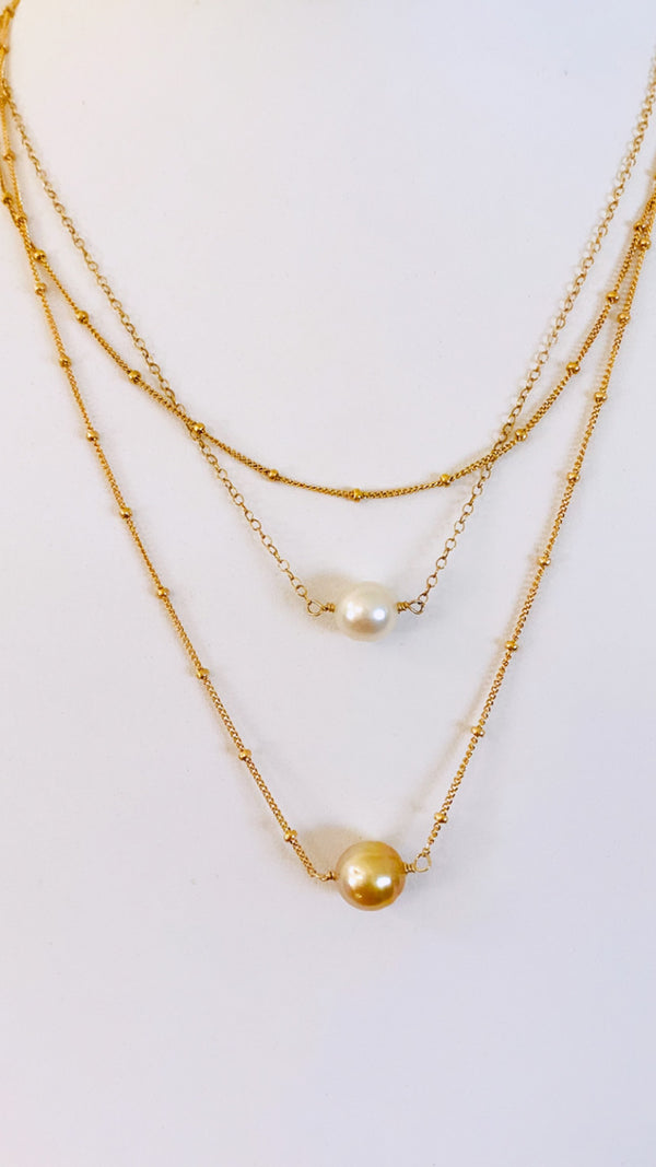 Double SOUTH SEA Pearl necklace