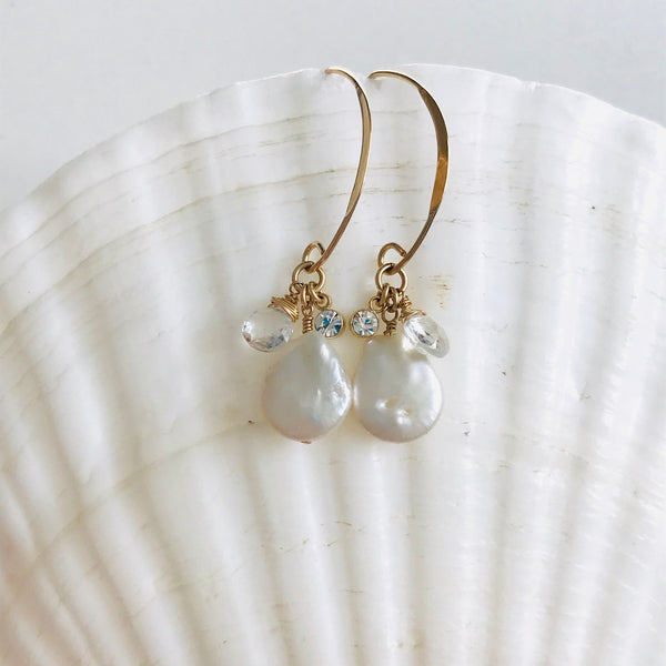 MOMONA Freshwater pearl earrings