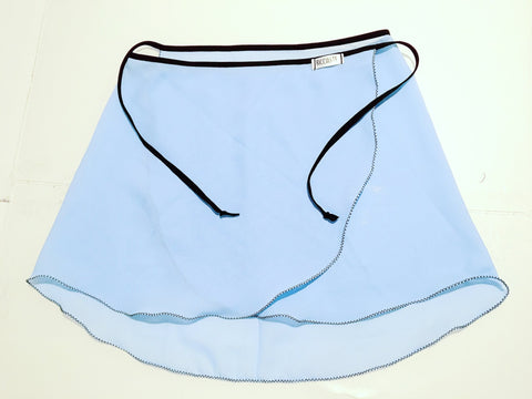 Light Blue Short Straight Cut Skirt