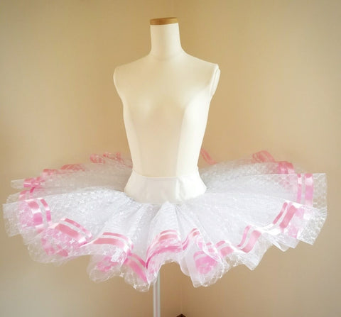 White Practice Tutu with Ribbons