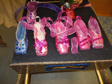 """Unique Creations"" Decorated Pointe Shoes"