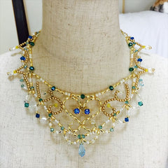 Royal Blue Ballet Necklace