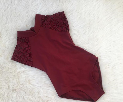 Deep Burgundy Wine Leotard