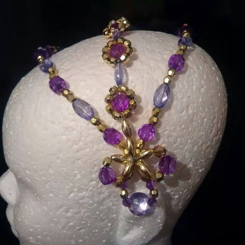 Lilac Odalisque Headpiece