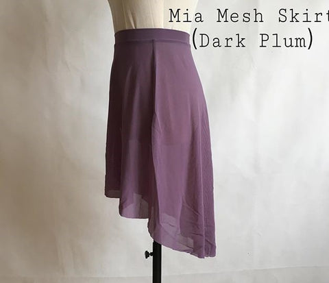 Dark Plum Circular Skirt