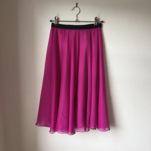Circle Rehearsal Skirt Fuchsia