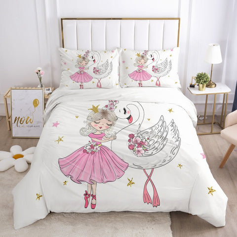 "Bed Setting ""Ballerina and Swan"""