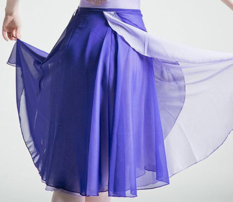 Adult Ballet Skirt Chiffon Skirt with Double Color