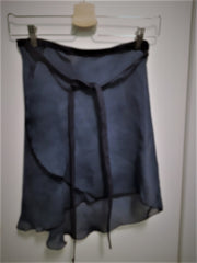 Blue Denim Wrap Skirt - Dancewear by Patricia