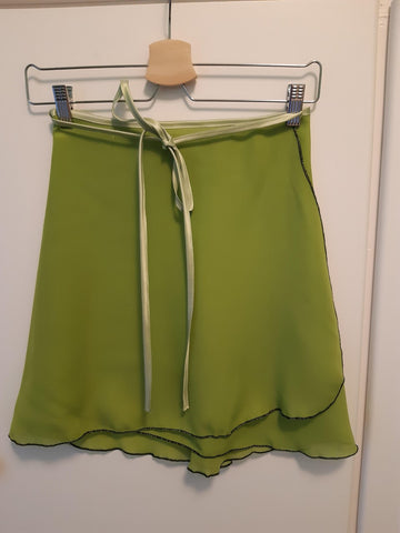 Pistachio Green Wrap Skirt