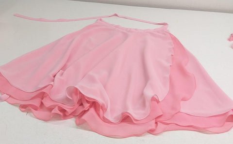 Chiffon Skirt with Double Color