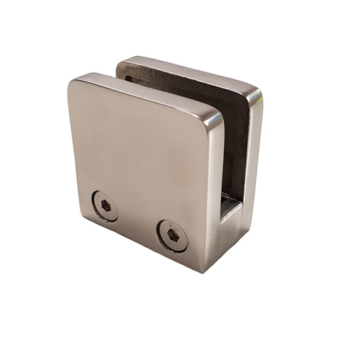 Square - Glass D Clamp - Stainless Steel Products,  - Stainless Steel, CMW Fittings - James Glen, [Shop_Name] - Stainless Steel Products