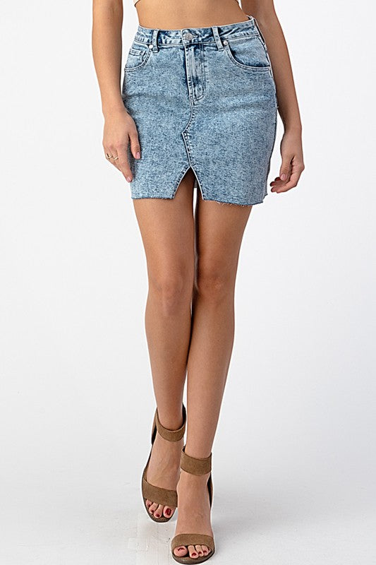Lauren Acid Wash Denim Mini