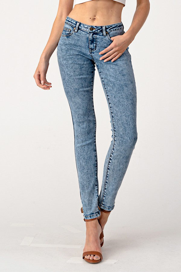Hannah Extra Skinny Acid Wash Denim