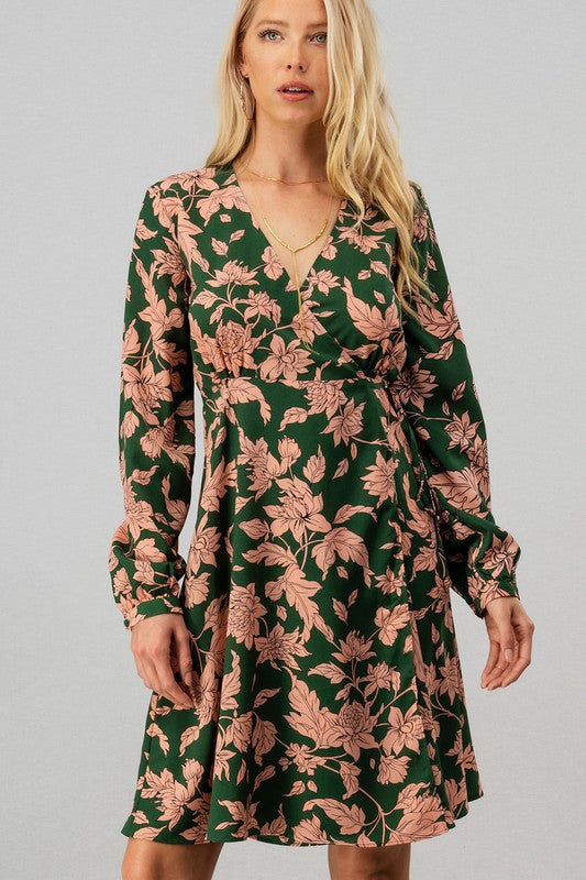 Hazel '70s Floral Wrap Dress