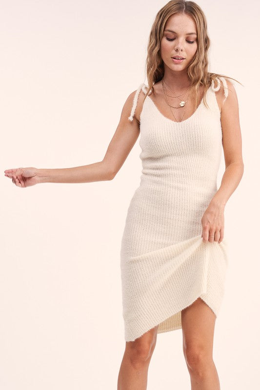 Scarlett Shoulder Tie Knit Dress