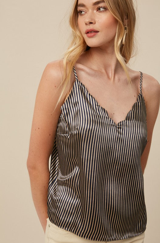 Carly Satin Stripe Cami