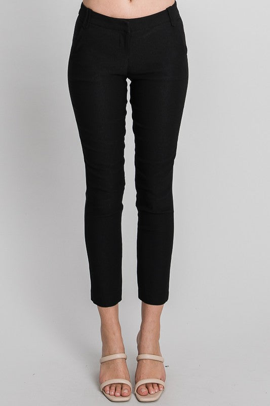 Kinsley Skinny Black Pencil Trouser