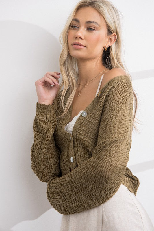 Cindy Scalloped Cardigan