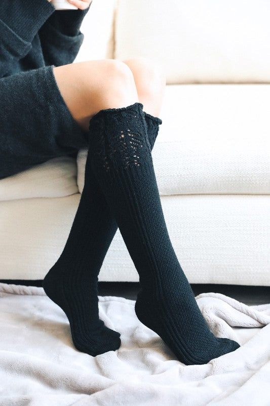 Alice Pointelle Knee Socks