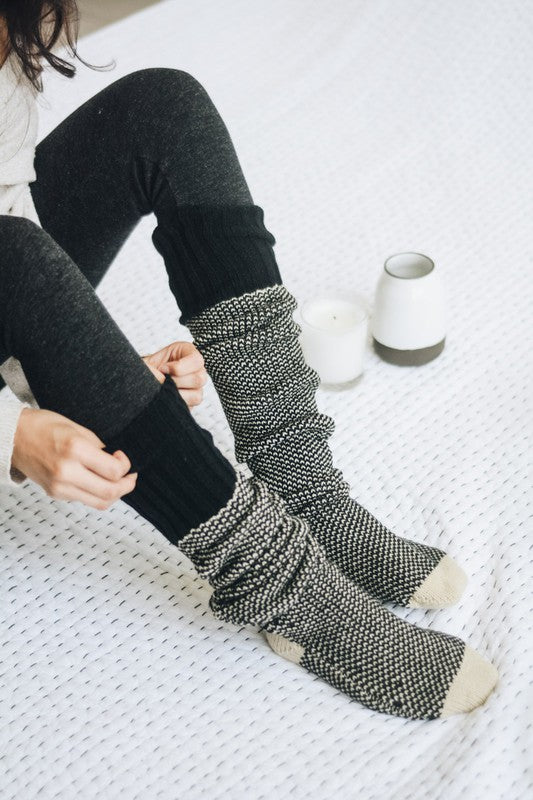 Kennedy Knitted Knee High Scrunch Socks