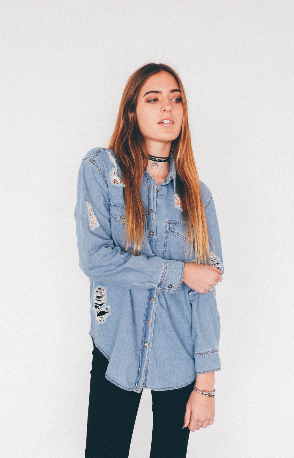 Frankie Denim Shirt, - Wildest Dreams