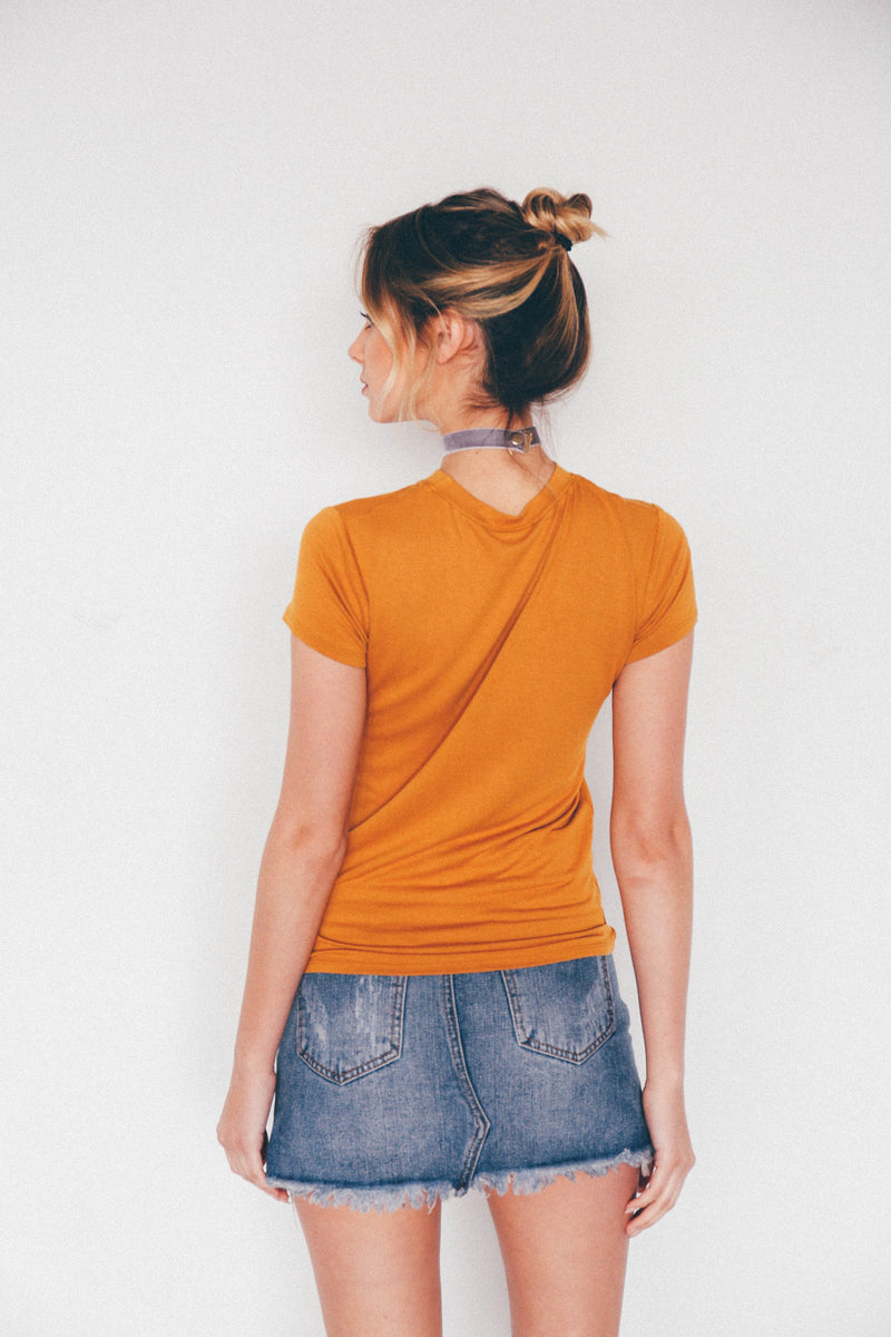 Sydney Basic Tee - Mustard, - Wildest Dreams
