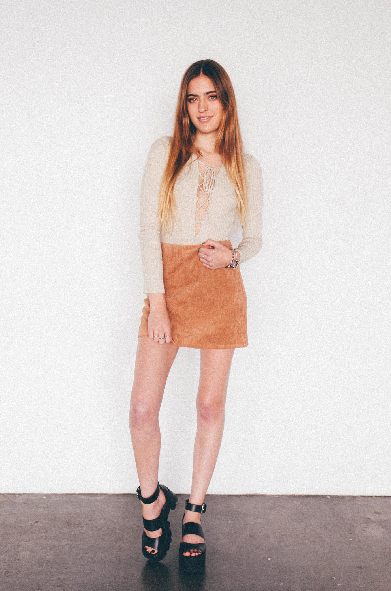 Rowe Ribbed Mini Skirt, - Wildest Dreams
