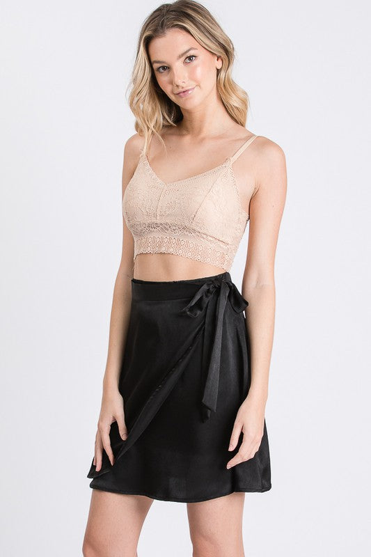 Fiona Satin Wrap Skirt