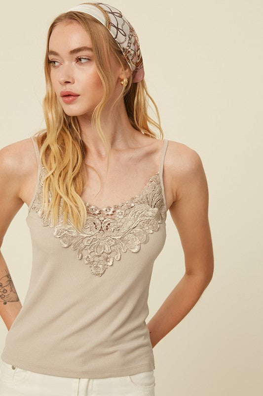 Willow Lace Front Cami