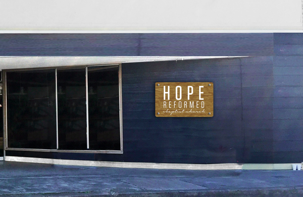 Hope Reformed - white artwork