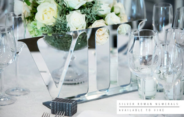 Roman Numeral Wedding Table Numbers