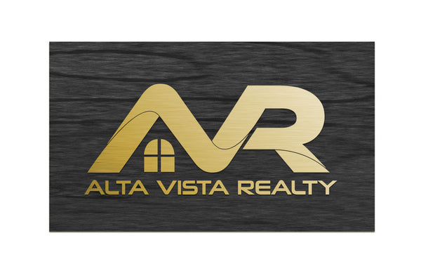 Alta Vista Realty - Reception Desk Sign