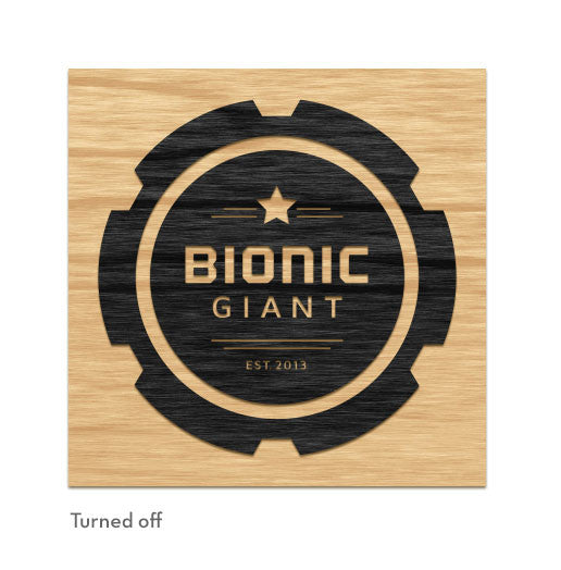 Bionic Giant - Illuminated Sign