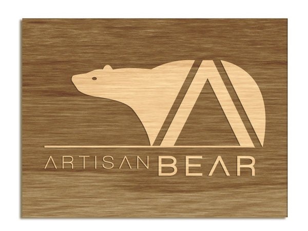 Artisan Bear - Etched Sign