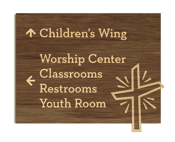 Providence Church - Foyer Signage, Etched