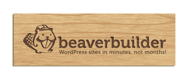Beaver Builder - Tabletop Sign, Mark Only