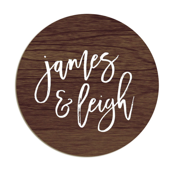 James & Leigh - Etched Sign