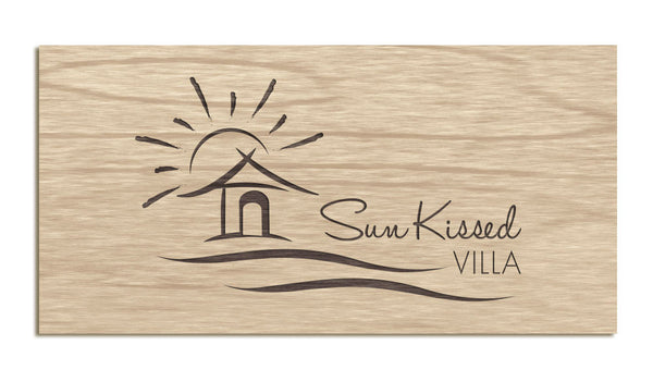 Sun-Kissed Villa - Etched Sign