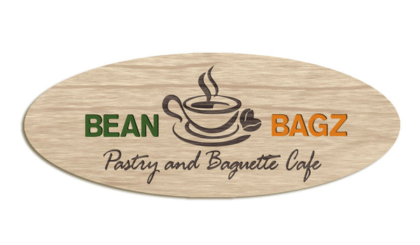 Bean Bagz - Small etched sign